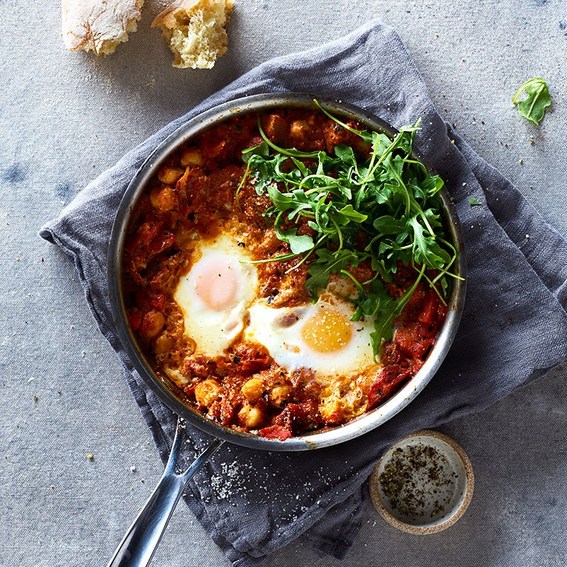 Photo of Italian poached eggs with tomatoes and chickpeas by WW
