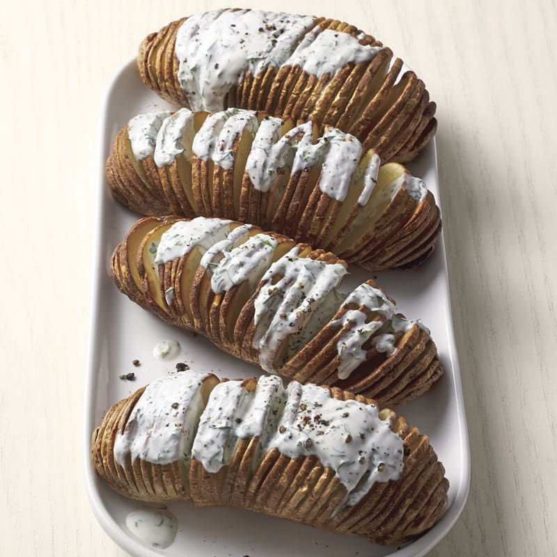 Photo of Air-Fryer Hasselback Potatoes with Herby Ranch Drizzle by WW