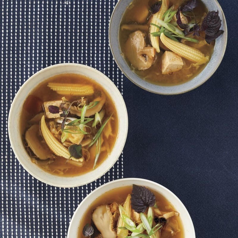 Photo of Hot and sour soup with shiitakes and tofu by WW