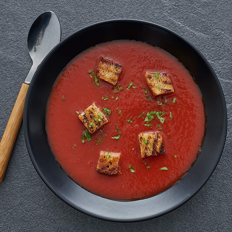 Photo of Grilled tomato soup with garlic croutons by WW