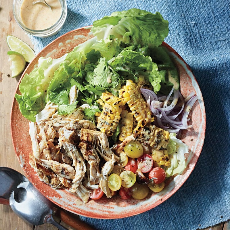 Photo of Grilled chicken and corn salad with yogurt-lime dressing by WW