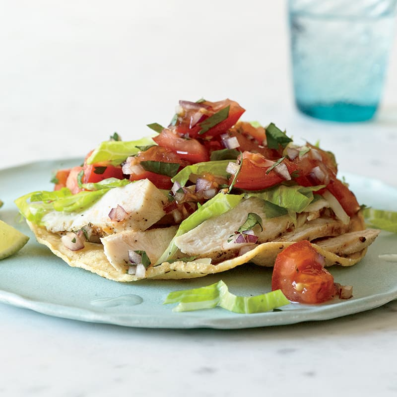 Photo of Chicken Tostada with Chopped Tomato Salad by WW