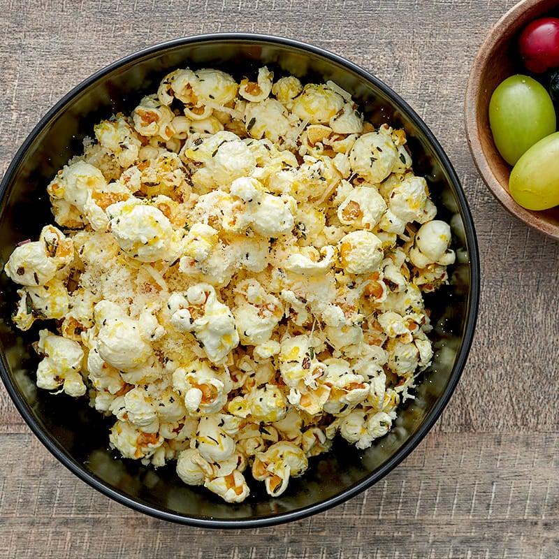 Photo of Lemon, thyme, and pecorino popcorn by WW