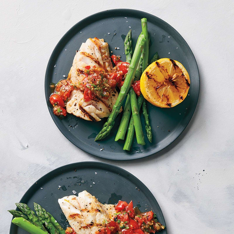 Photo of Grilled sea bass with tomato vinaigrette by WW
