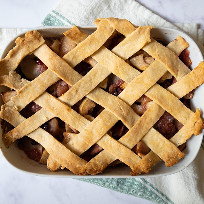 Photo of Apple-Pomegranate Cobbler by WW