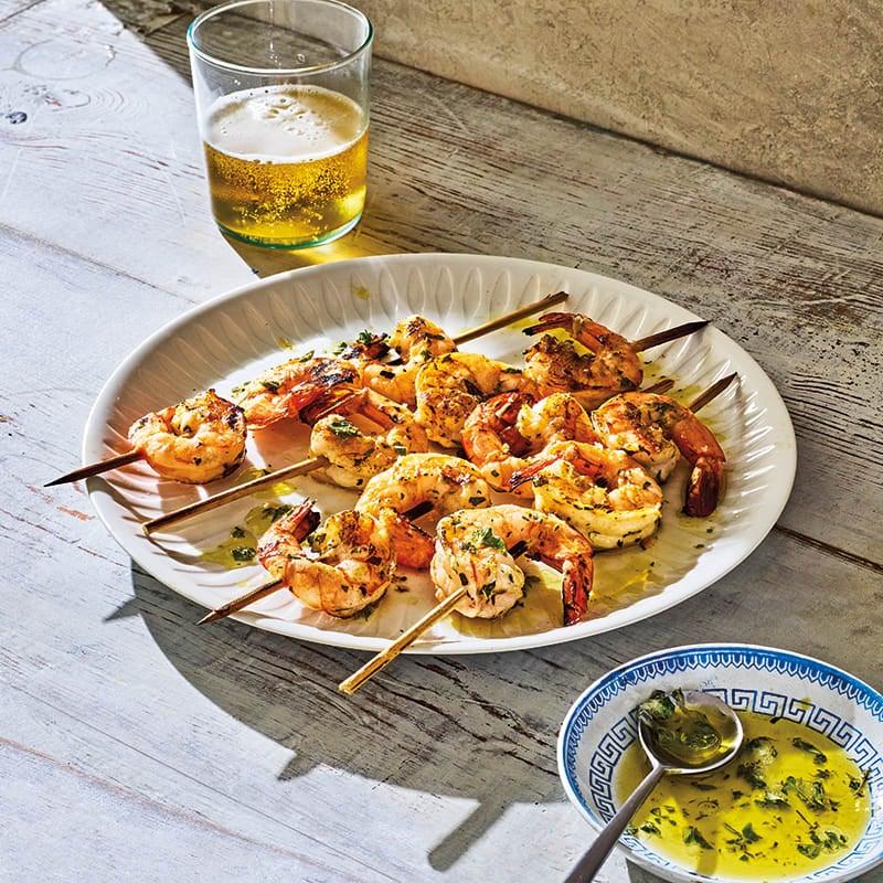 Photo of Lemon-oregano grilled shrimp by WW