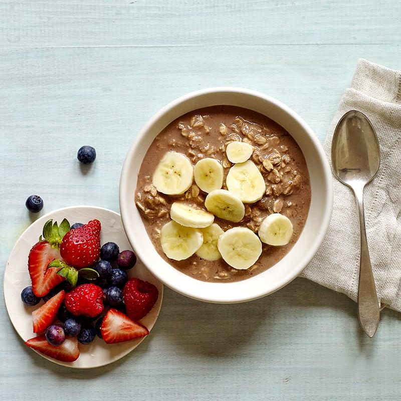 Photo of Chocolate peanut butter–banana overnight oats by WW