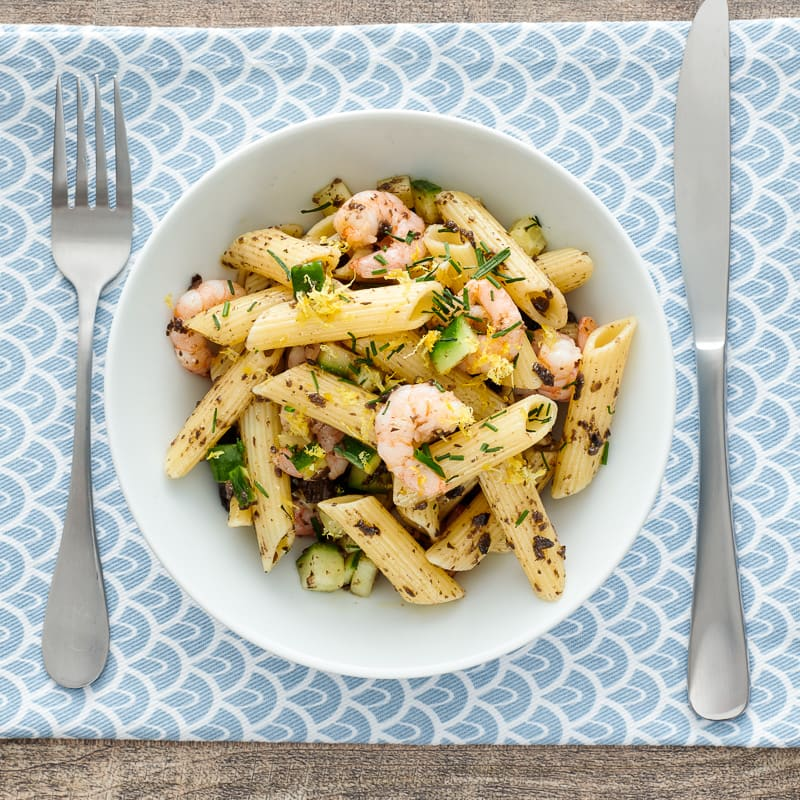 Photo of Pasta salad with baby shrimp by WW