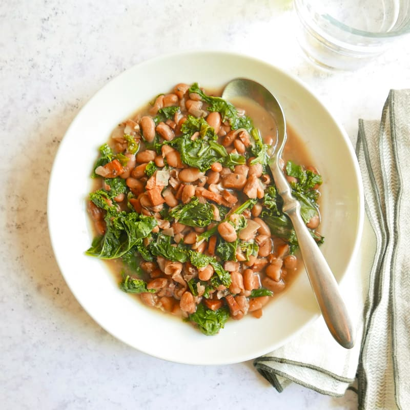 Photo of Smoky slow cooker beans and greens by WW
