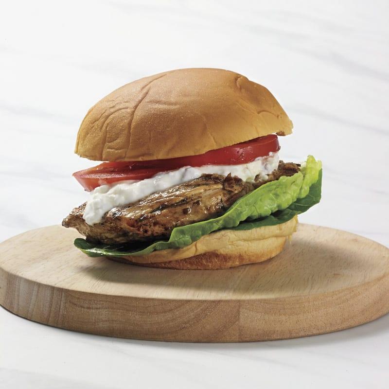 Photo of Greek-grilled chicken sandwich by WW