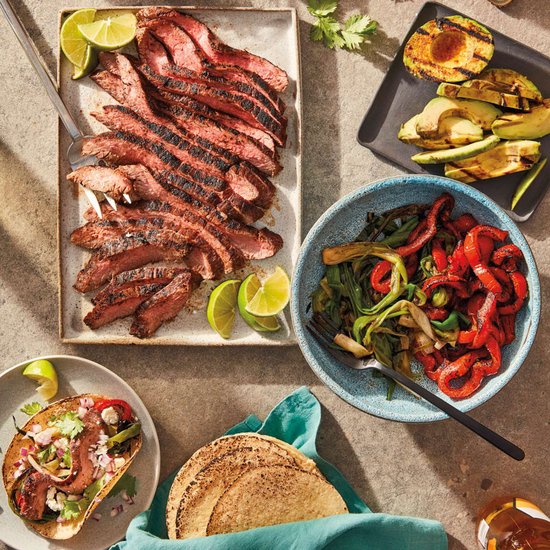Photo of Grilled flank steak and avocado soft tacos by WW