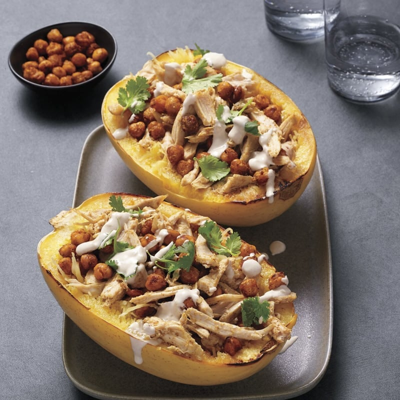 Photo of Chicken and chickpea-stuffed spaghetti squash by WW