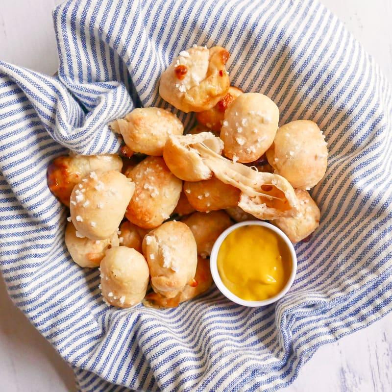 Photo of Cheese-stuffed pretzel bites by WW