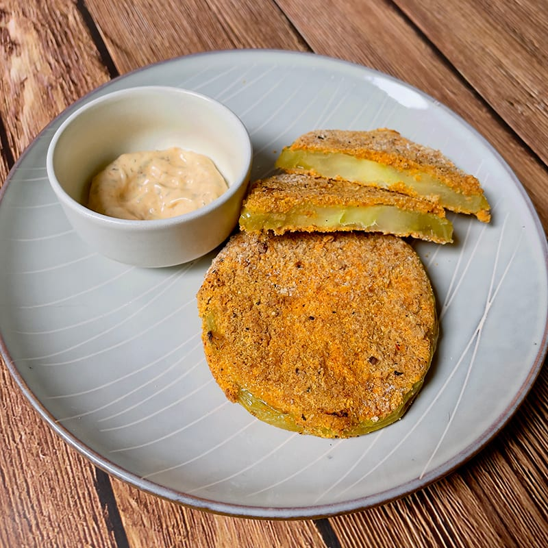 Photo of Air-fried green tomatoes with spicy aioli by WW