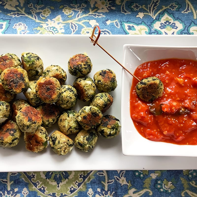 Photo of Parmesan-spinach balls by Chef Millie Peartree by WW