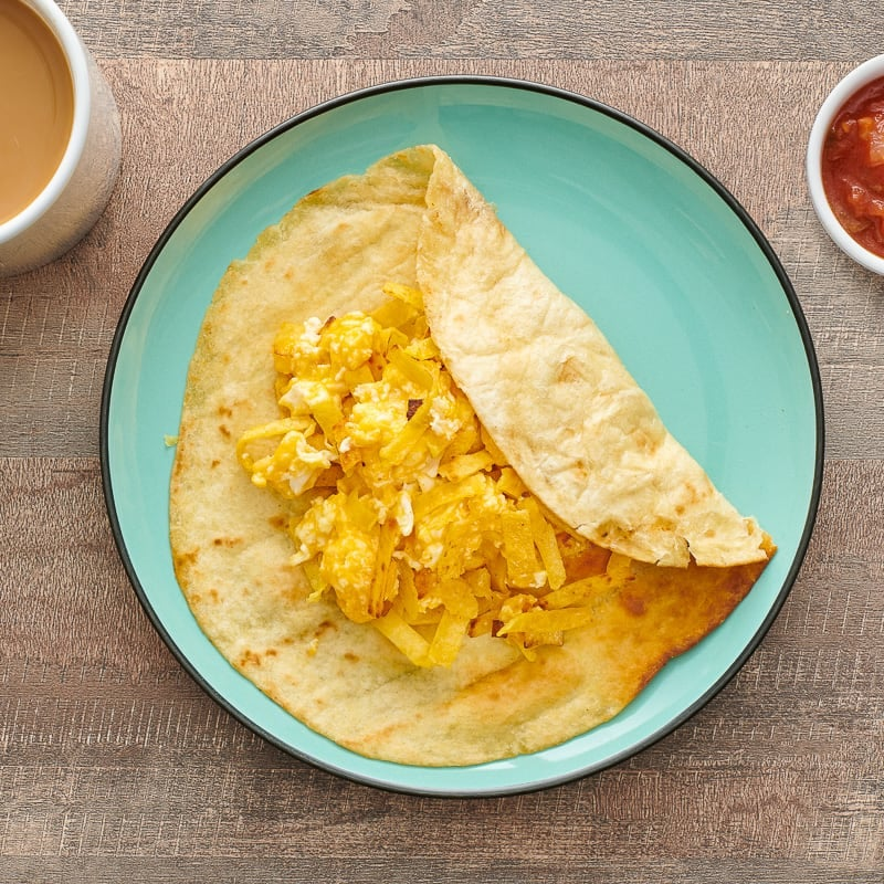 Photo of Egg and tortilla scramble with salsa by WW