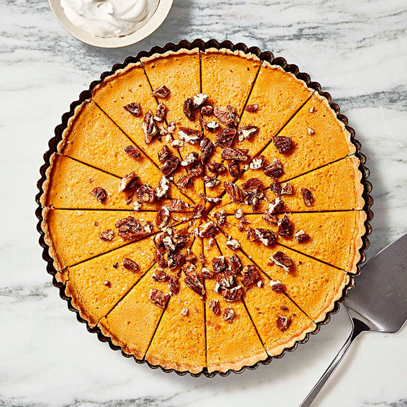 Photo of Butternut squash tart with candied pecans by WW