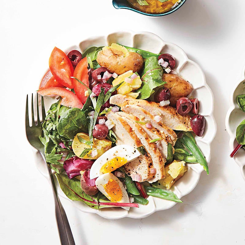 Photo of Chicken Niçoise salad with tarragon-olive vinaigrette by WW