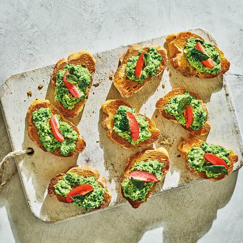 Photo of Pea & ricotta crostini by WW
