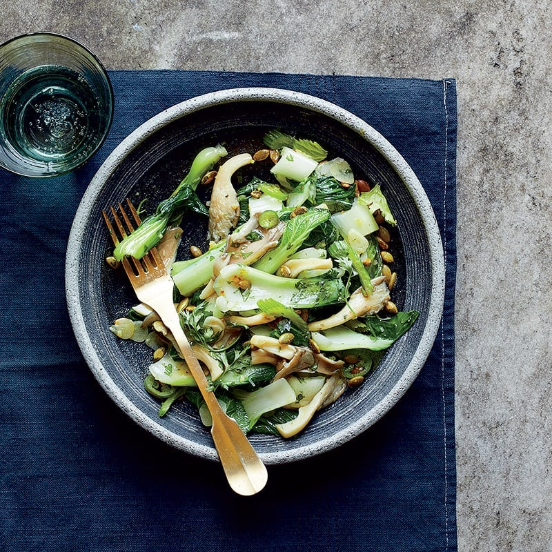 Photo of Bok choy with oyster mushrooms by WW