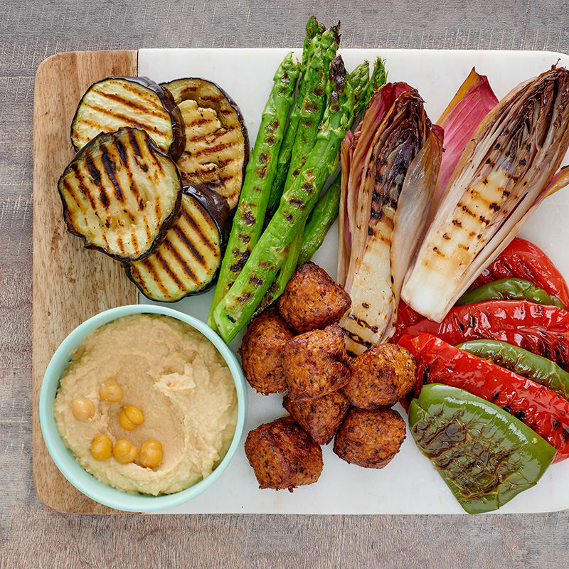 Photo of Grilled vegetables with lemony chickpea dip by WW