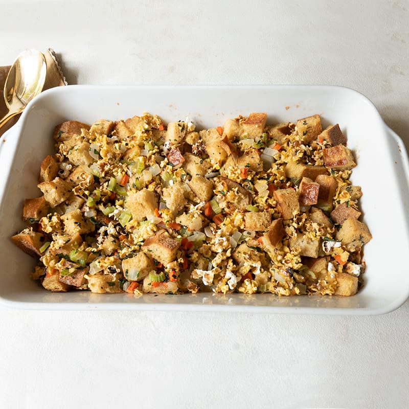 Photo of Herby popcorn and sourdough stuffing by WW