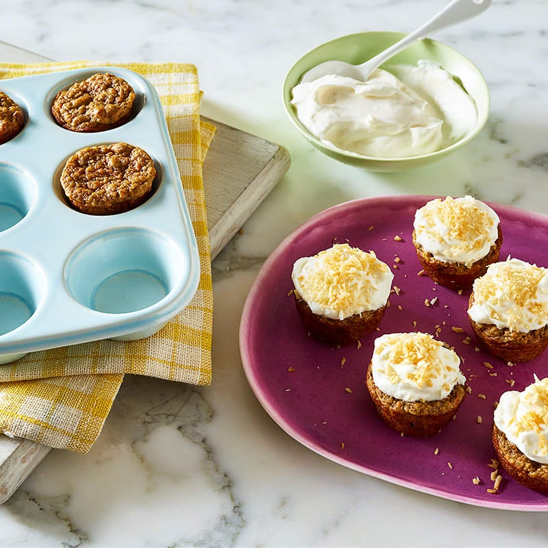 Photo of Carrot Cupcakes Bites with Cream Cheese Frosting by WW