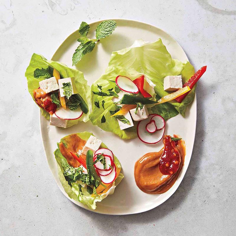 Photo of Korean tofu-veggie wraps by WW