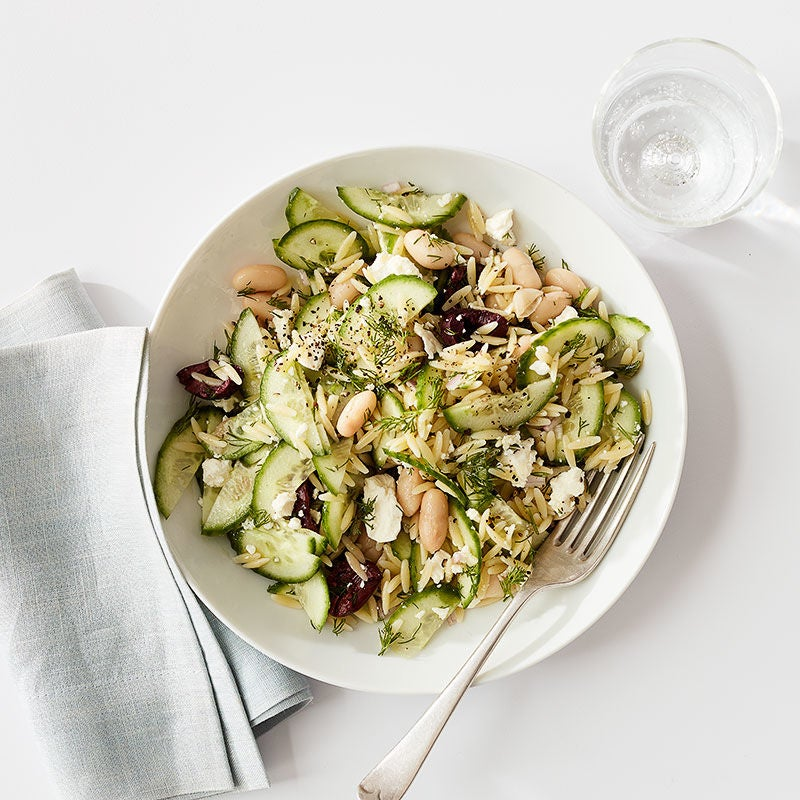 Photo of Mediterranean pasta and white bean salad for one by WW