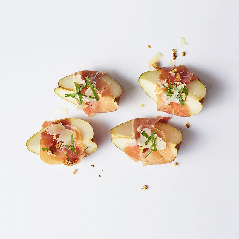 Photo of Prosciutto-Wrapped Pear with Basil and Balsamic by WW