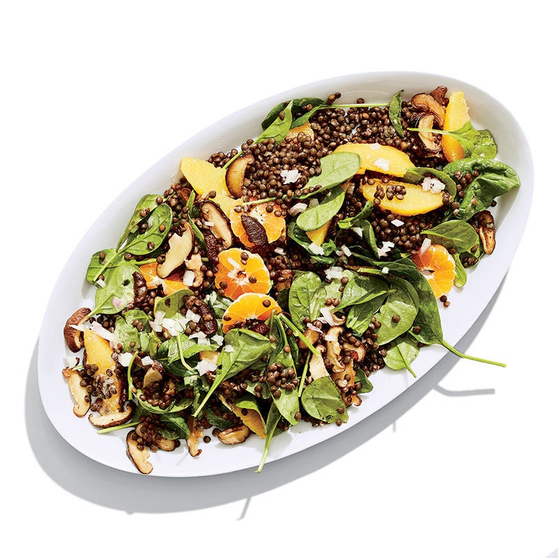 Photo of Spinach and Black Lentil Salad with Shiitakes and Citrus by WW
