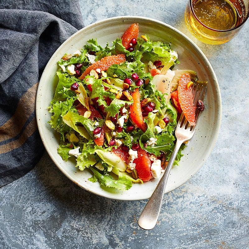 Photo of Orange, pomegranate, and feta salad by WW