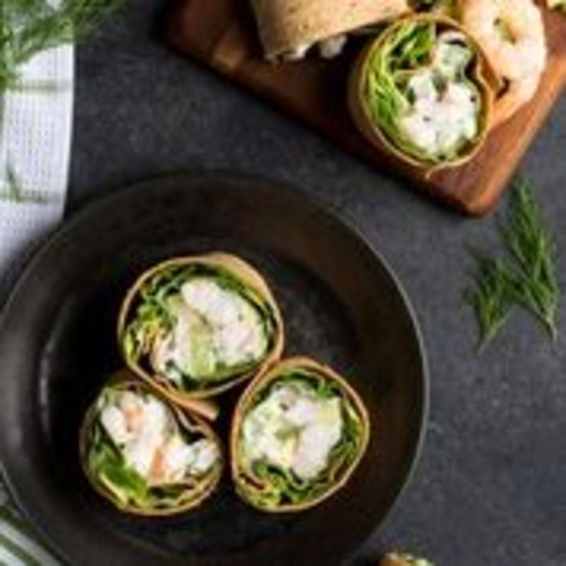 Photo of Shrimp salad Flatout wrap by WW