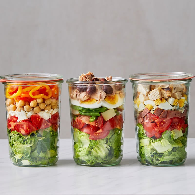 Photo of Mason jar chopped Greek salad by WW