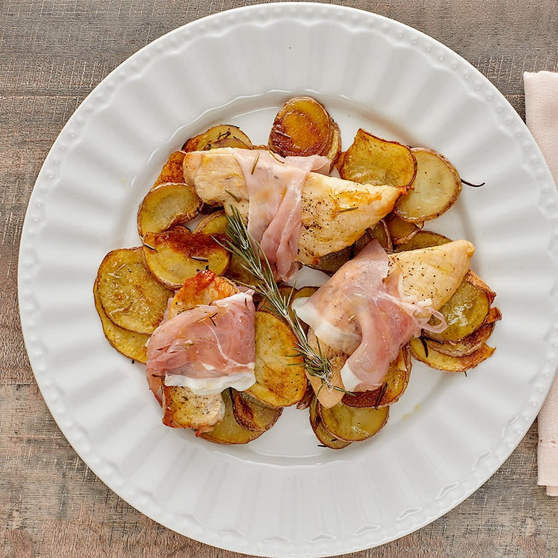 Photo of Rosemary-prosciutto chicken with potatoes by WW