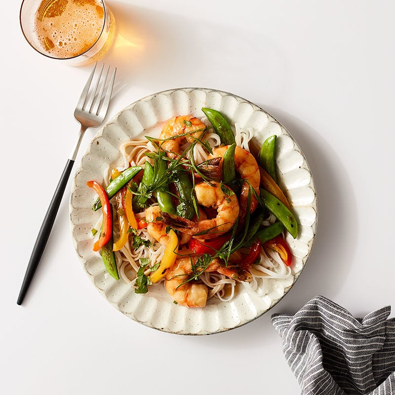 Photo of Shrimp, Pepper & Snap Pea Sauté by WW