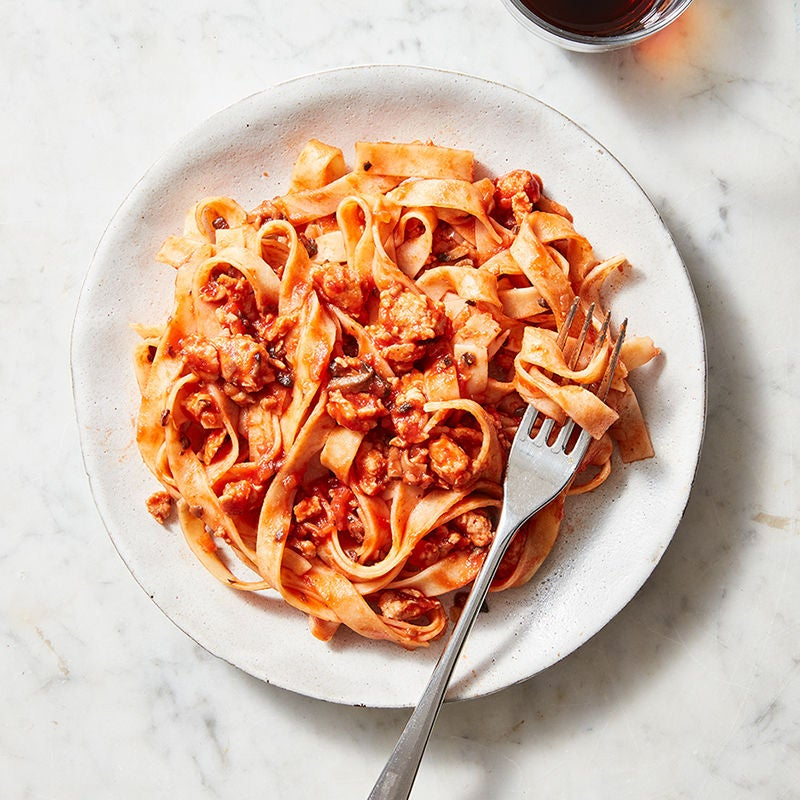 Photo of Pasta Bolognese with mushrooms by WW