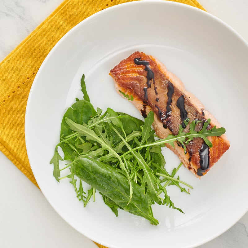 Photo of Pan-seared salmon with balsamic drizzle by WW