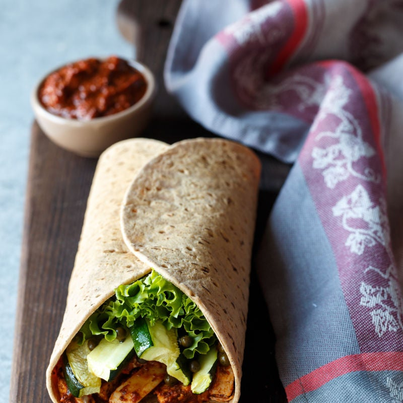Photo of Sun-dried tomato chicken wrap by WW