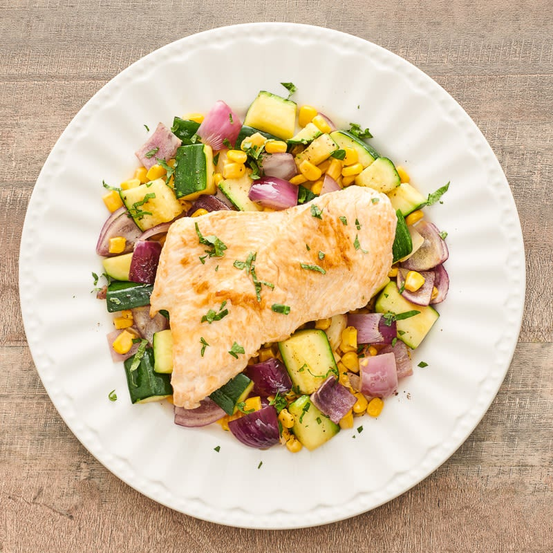 Photo of Turkey scallopini with vegetables by WW