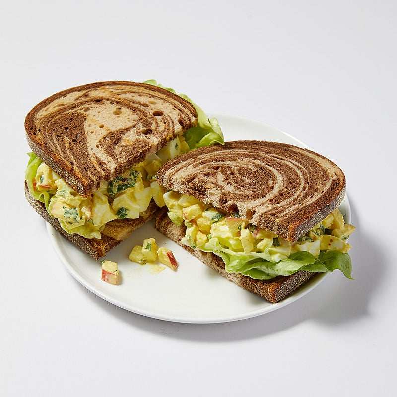 Photo of Curried egg & apple salad sandwich by WW