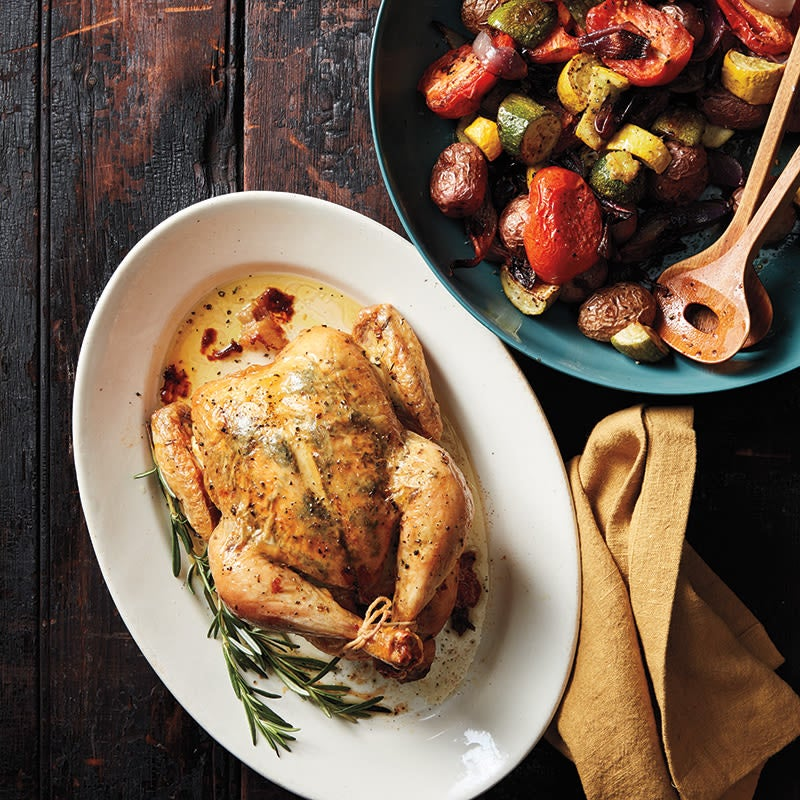 Photo of Roast chicken and vegetables Provençal by WW