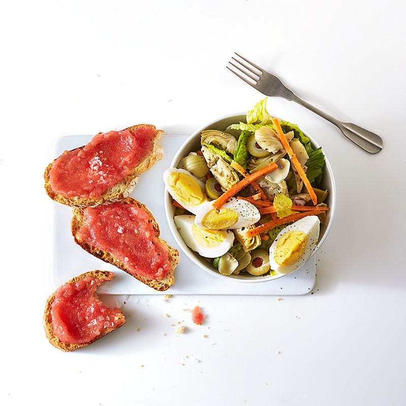Photo of Pan con tomate with Spanish salad by WW