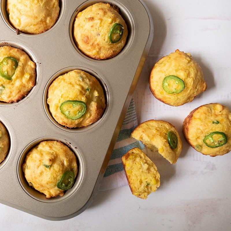 Photo of Jalapeño-cheddar corn muffins by WW