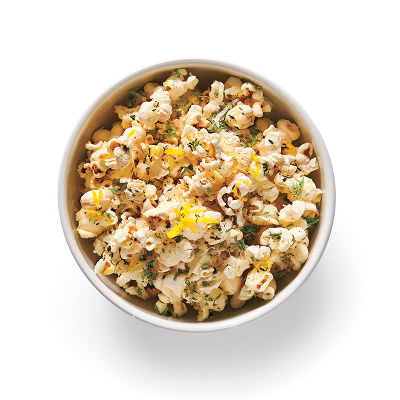 Photo of Parmesan popcorn with lemon and thyme by WW
