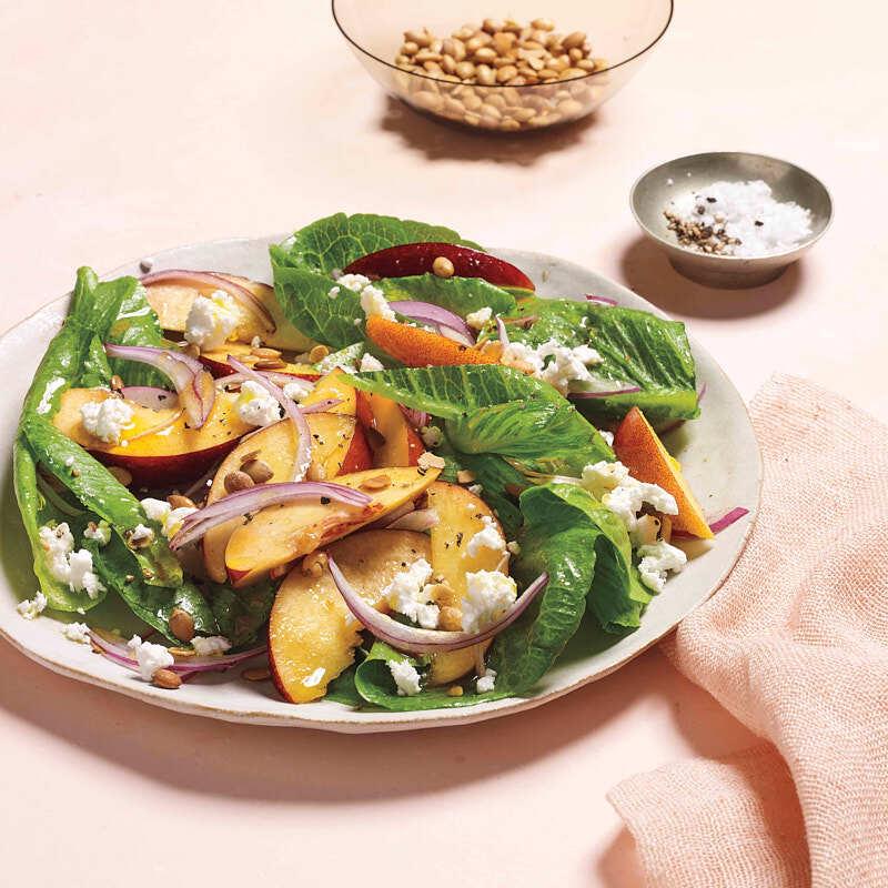 Photo of Ripe nectarine and toasted pepita salad by WW