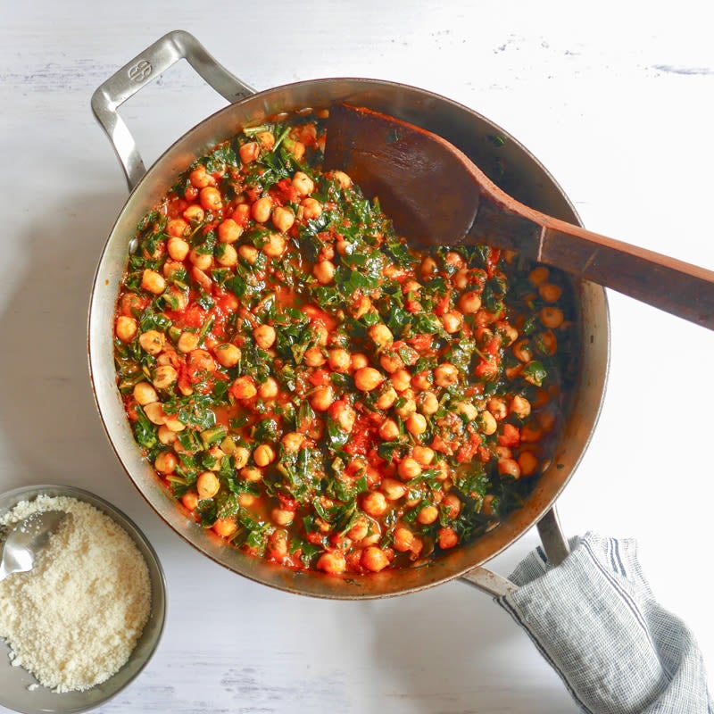 Photo of Saucy chickpeas with kale by WW