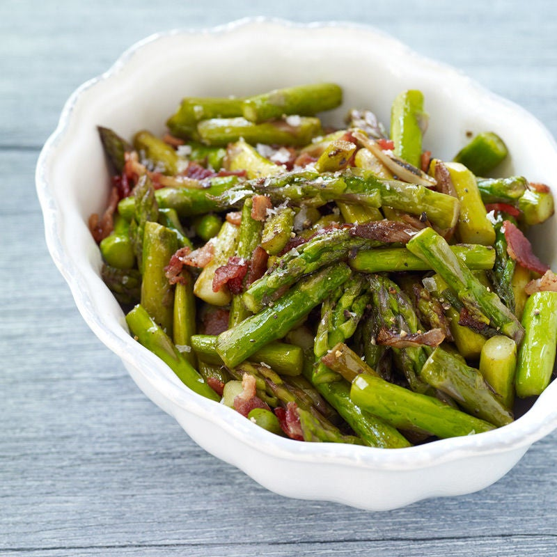 Photo of Asparagus Sautéed with Bacon by WW
