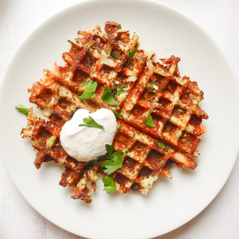 Photo of Cheesy cauliflower waffles by WW