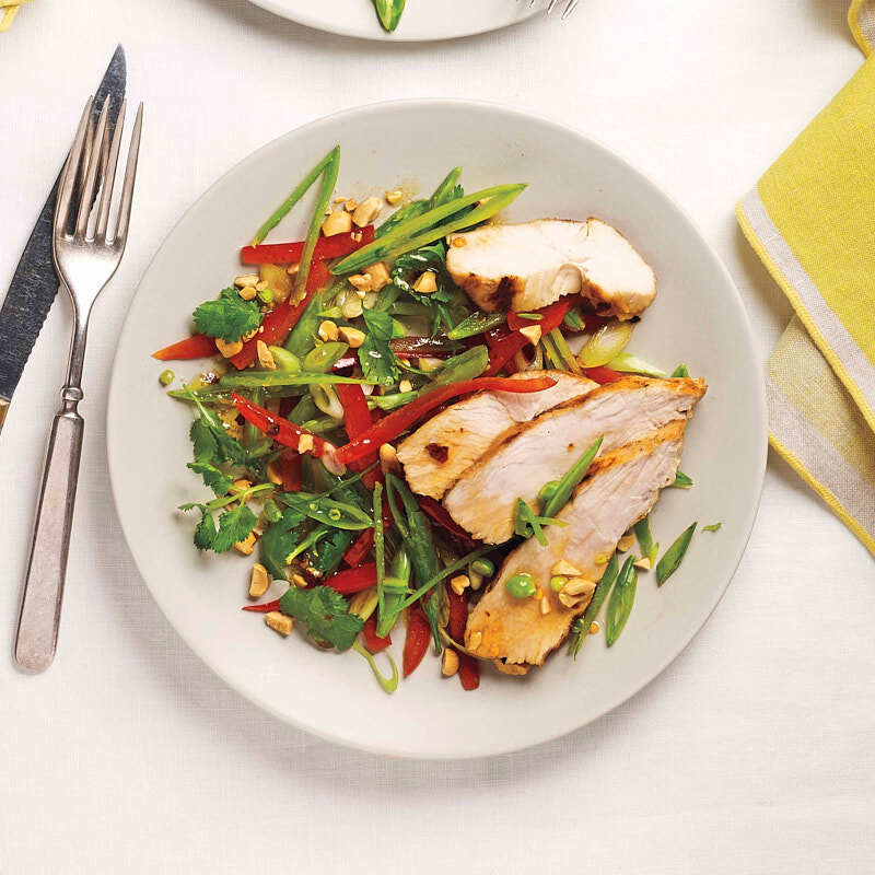 Photo of Grilled chicken salad with ginger-honey dressing by WW